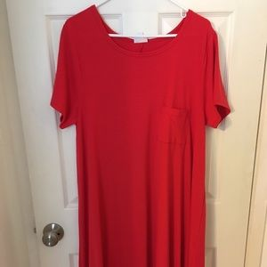 NEW LuLaRoe Carly Dress - XL Red